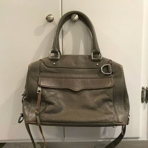 Rebecca Minkoff genuine Gray leather bag
